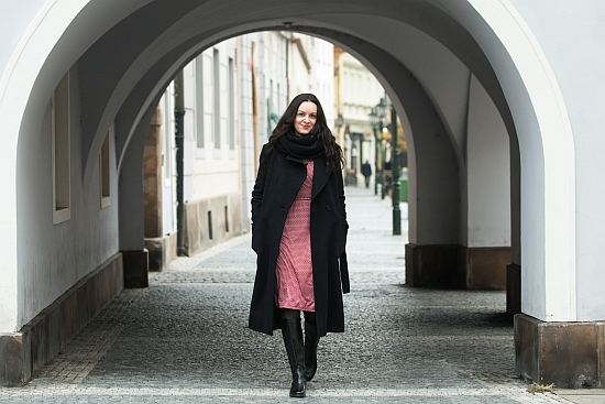 Author Pavla Horáková outside Charles University in Prague. Photo: René Volfík.