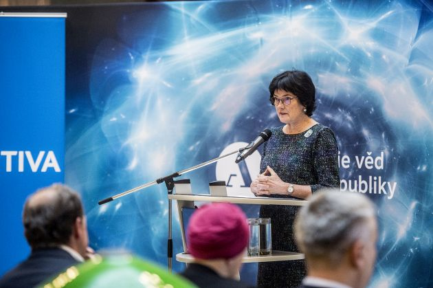 The head of the Czech Academy of Sciences Eva Zažímalová launches Science and Technology Week in Prague.