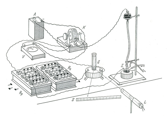 Diagram of a polarograph