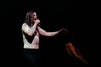 Look ma, no flying mammals! Ozzy Osbourne performing in Milan, Italy in 1995. Source: Shutterstock.